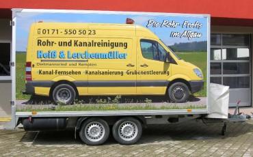 Beschriftung auf Anhänger:Werbung & Beschriftung in Mauerstetten - Metzig ist fetzig!